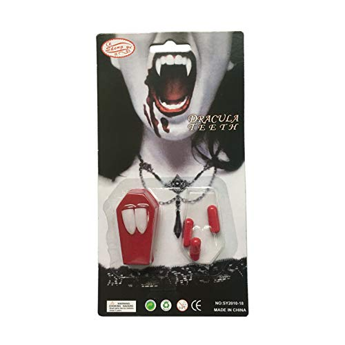ProExtend Halloween Costume Cosplay Props Vampire Teeth Classic Custom Fangs Teeth Set]()