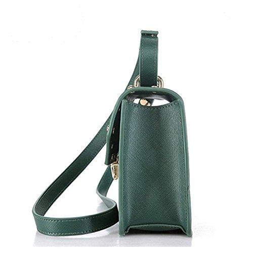 épaule à Mini Cross HAOXIAOZI Carré Sacs Broderie Package Sac Rivet Mode Green Main Petit dXqqwHPv