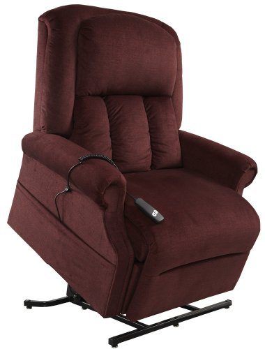 Mega Motion Superior - Heavy Duty Lift Chair - Bordeaux (curbside delivery) by Mega Motion