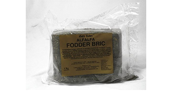 Gold Label – Alfalfa caballo & Pony fodder Bric X 1 Kg ...