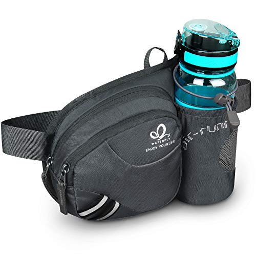 LIGHTENING DEAL! TOP RATED HIKING WAIST BAG WITH WATER BOTTLE HOLDER!