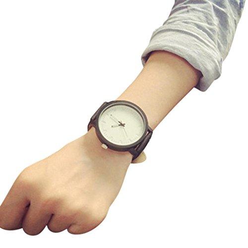 (Auwer Watches,Mens watches,Women Watches Waterproof Analog Quartz Dress Wrist Watch With PU Leather Bracelet (White))