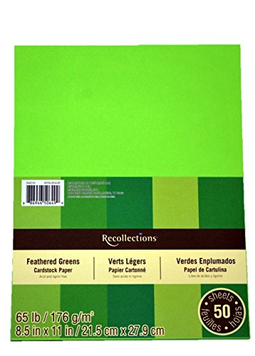 Recollections Cardstock Paper, 8 1/2 X 11 Feathered Greens - 50 Sheets