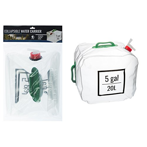 ASR Outdoors Collapsible Water Carrier with Handle 5 Gallon by ASR Outdoors