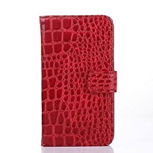 PEACH- PU Leather Full Body Case for Samsung Galaxy S5 I9600 (Assorted Colors) , Red