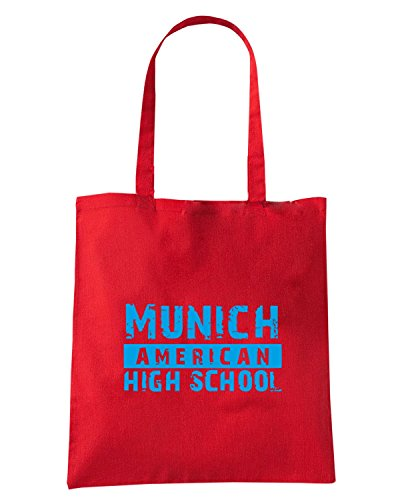 T-Shirtshock - Bolsa para la compra OLDENG00768 munich american high school 1 light Rojo