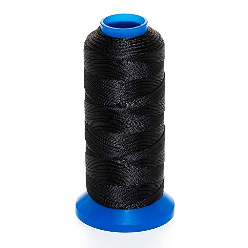 GRIFFIN Jewelry Nylon Bead Cord Spool For Stringing Pearls and Beads, No Stretch, Soft & Smooth, For Professional Jewelry Makers (Black JN1 Cord Dia. 0.2 mm (.008