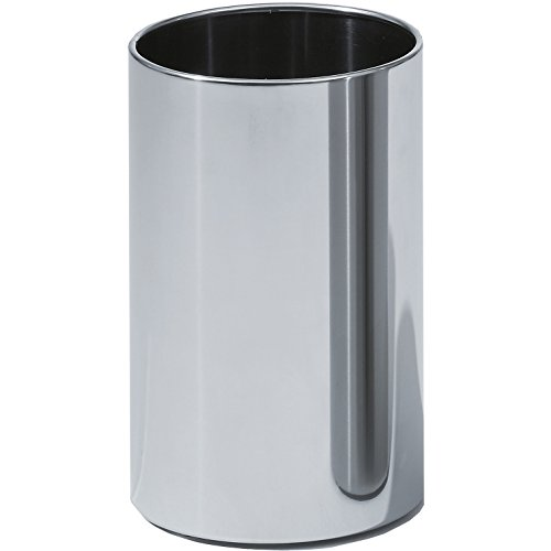 DWBA Round Open Top Stainless Steel Wastebasket Without Lid Cover, Polished (Chrome Round Wastebasket)