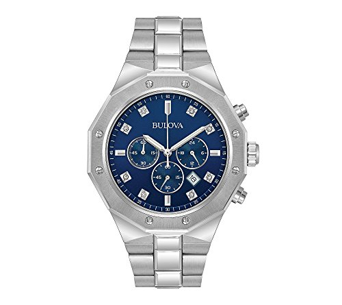 Bulova Men's 44mm Stainless Steel Diamond Watch