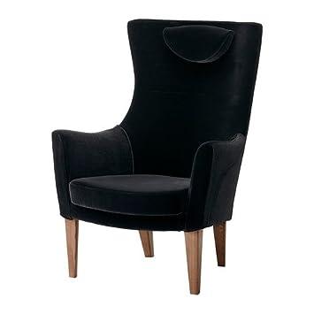 Ikea Stockholm Sessel Mit Hoher Rucken Sandbacka Schwarz Amazon De