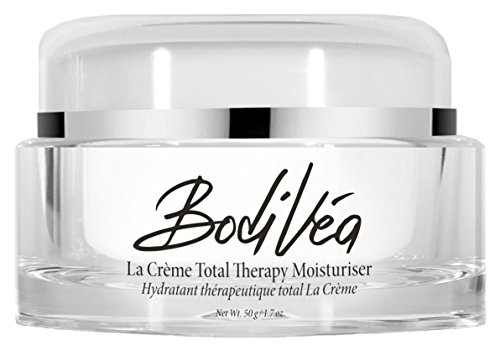 BodiVéa La Crème Total Therapy Moisturiser with Collagen-Building Vitamin C, Marine Extracts, Natural Botanicals, Amino Acids and Brighteners That Repair Sun Damage, Age Spots, Wrinkles & Fine Lines (Best Moisturiser For Fine Lines)