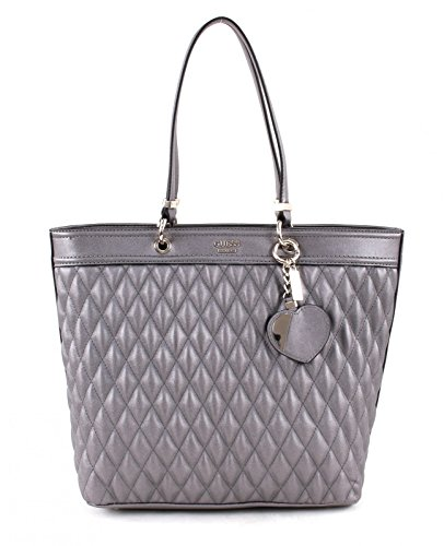 Guess Marisa shopping bag tote Pewter