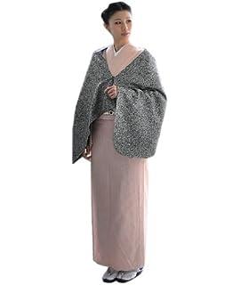 a58c9756a93f0   京都きもの町   リボン ショール 黒×白×シルバー 和洋兼用 ウール ショール