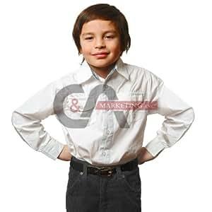 Children's Belt with Premium Grain Leather Belt (Black)