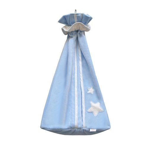 Câlin Câline Olivier 302.22 - Bolsa para pañales y pijamas, diseño con estrella, color blanco y azul