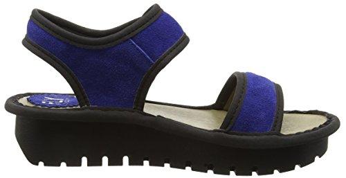 Blue Black Bleu Blue Kish603fly Femme Sandales Fly London Compensées Ux8n7Y8q