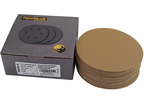 nding Discs No Hole Grit 100 50pcs Pack Special Anti Clog Coating Paper Gold Line Hook and Loop Dual Action Air Random Orbital Sander Paper Medium ()