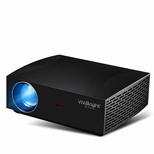 VIVIBRIGHT f30 1080P Projector, 1920x1080 Native Pixels, Consumer Class Video Entertainment Full HD Projector, 4200 White Light LED Brightness, SPDIF Interface with HiFi Sound Quality from VIVIBRIGHT