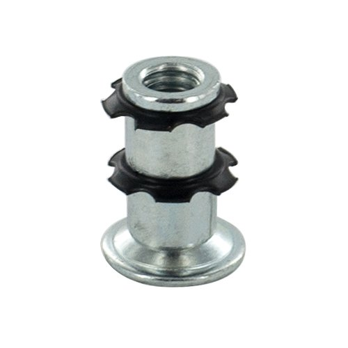 Outwater Round Double Star Metal Caster Insert with Thread DS72-245. Thread: 5/16-18, Outside Diameter of Tube: 3/4