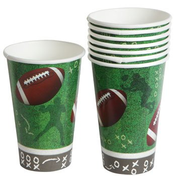 Homemade Football Costumes Girl (Football Paper Cups Plates Party Supplies Supply Trays NFL Sports Table cover Superbowl Game Day Tailgate 8)