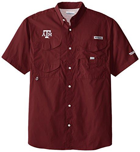 NCAA Texas A&M Aggies Collegiate Bonehead Short Sleeve Shirt, Maroon, Large