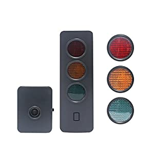 Wisamic Garage Parking Sensor Precision Parking Device Automatic Parking Aid with Lamps Display for Car