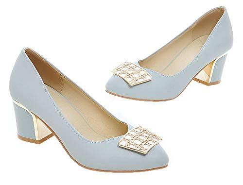 Femme L Pointu Chaussures Pu Cuir Agoolar Couleur Unie 0pxqd01w