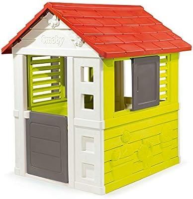 Smoby Nature II - Casa de Juguete Infantil, Color Roja, Blanca y Verde (810712): Amazon.es: Juguetes y juegos