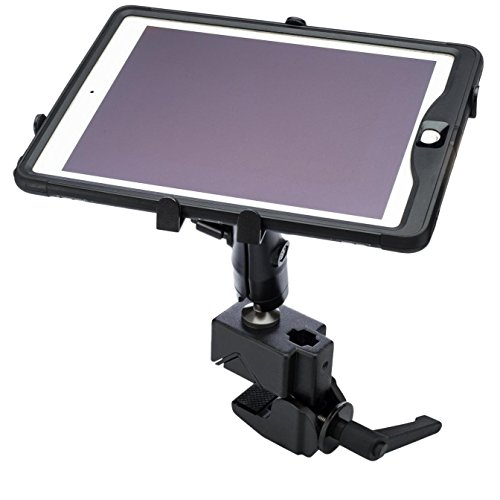 Flex 4 Lift Kit (Universal Tablet Mount For Cockpit and Boat Helm HEAVY DUTY Articulating Clamp On NO DRILLING REQ'D.)