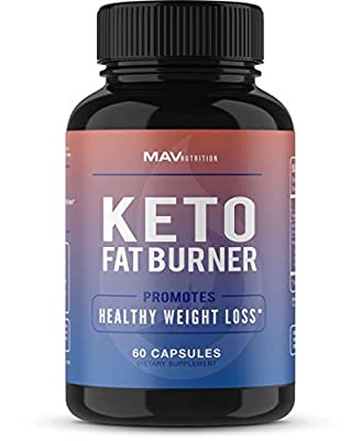 Keto Fat Burner, Weight Loss Supplement Designed to Burn Fat, Support Healthy Metabolism Rates, Suppress Appetite, Obtain Ultimate Ketosis, Enhance Mental Focus & Clarity; 60 Capsules for Men & Women