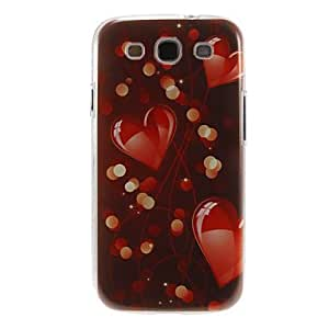 HJZ Romantic Heart Pattern Plastic Protective Hard Back Case Cover for Samsung Galaxy S3 I9300