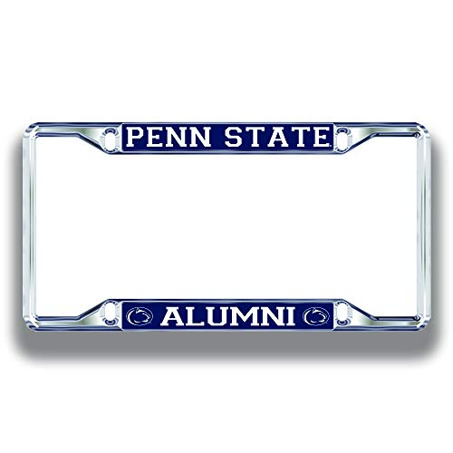 Elite Fan Shop Penn State Nittany Lions License Plate Frame Alumni - Silver