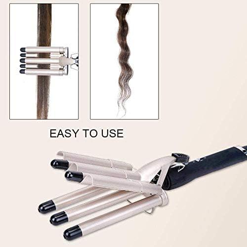 5 Barrel Hair Curling Iron Ceramic Styling Tools Hair Curler Hair Waver High Quality Professional Pear Flower Cone  muNNV