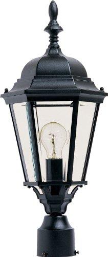 (Maxim 1005BK, Westlake Cast Aluminum Post Lamp - 100W Black Outdoor Post Lighting, Incandescent Post Lantern. Lighting Fixtures )