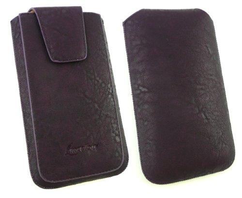 Emartbuy® Sparkling Stylus Pack Para Huawei Ascend G600 Gama Classic Púrpura Lujo Pu Slide Cuero De La Carcasa / Caja / Manga / Titular (Tamaño 3Xl) Con Magnético De La Aleta & Pull Mecanismo Tab + Sp