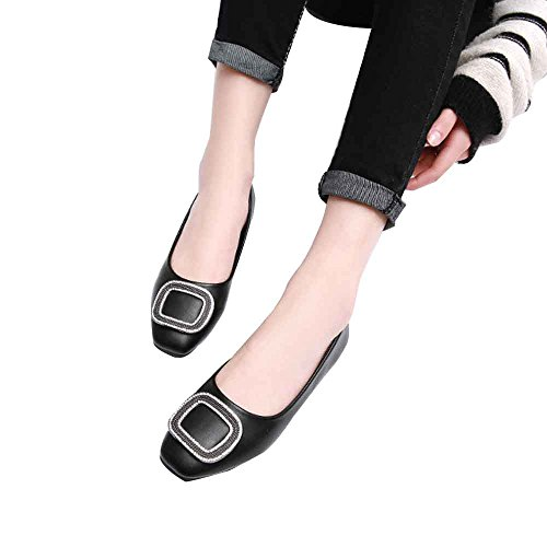 Ballet LIURUIJIA Flat Petticoat Women's Flats Plaid Black Dress Shoes classicSquare BwgF7wqfU