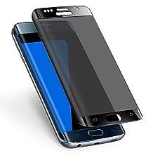 Samsung Galaxy S6 Edge Privacy Tempered Glass Screen Protector ,Toptrade Premium Privacy Anti-Spy 3D Tempered Glass [9H Hardness] [Anti-Scratch] Screen Protector for Samsung Galaxy S6 Edge (Black)