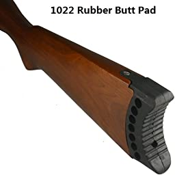 GRG Ruger 10 22 10/22 10-22 New Generation Recoil Pad, Recoil Butt Pad, Recoil Buttstock Pad, Butt Pad, Buttstock Pad, Stock Pad, Rubber Pad, Black