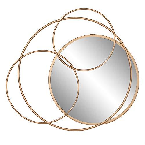 Gold Metal Layered Circle wall accent Mirror