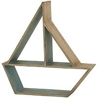 Deco 79 97728 Wood Table Boat Shelf, 24 x 24
