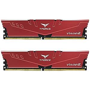 Team T-Force Vulcan Z 16GB (2X 8GB) DDR4 3200MHz Memory - Red