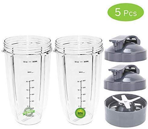Repuesto Nutribullet 24 oz vaso con tapa y parte superior a Go ...