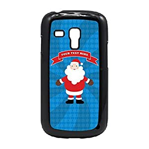 Case Fun Case Fun Christmas Santa (Add your own text, message, personalised, customisable) Snap-on Hard Back Case Cover for Samsung GalaxyS3 Mini (I8190)