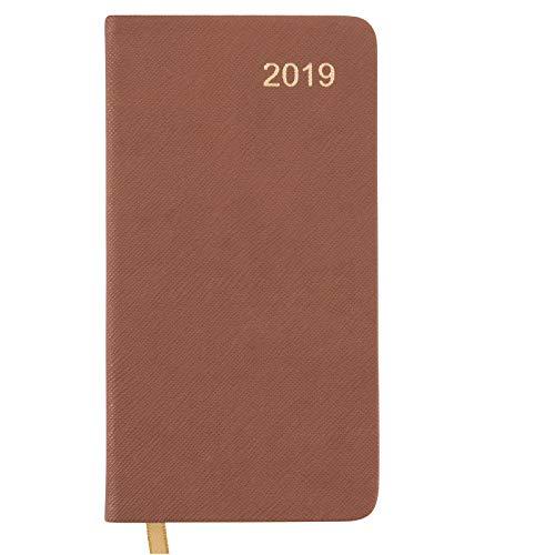 2019 Pocket Planner/Pocket Calendar: 14 Months (Begins November 2018) / 2019 Calendar/ 2019 Weekly Calendar/Weekly Planner Organizer Brown