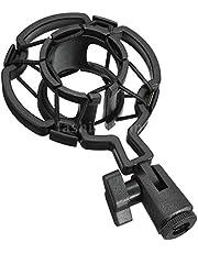 DSHUJC Universal Shock-proof Microphone Mount Plastic Studio Mic Holder Stand Clip For Large Diaphram Condenser,Variation:Black