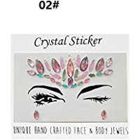 Polykor Useful Music Festival Party Glitter Rhinestone Tattoo Face Jewels Crystals Face Stickers Eyebrow Jewelry