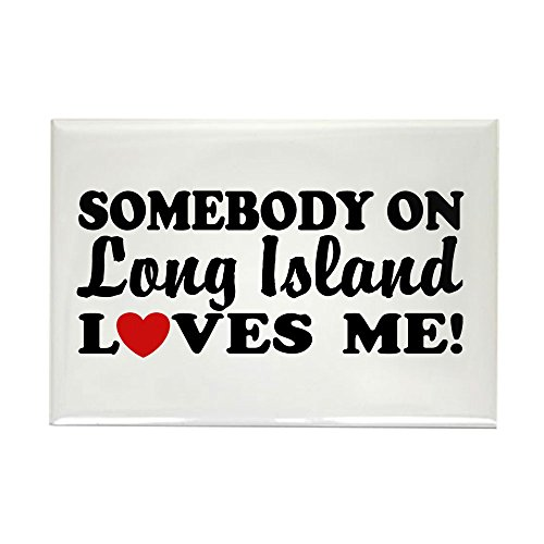 CafePress Somebody On Long Island Loves Me Rectangle