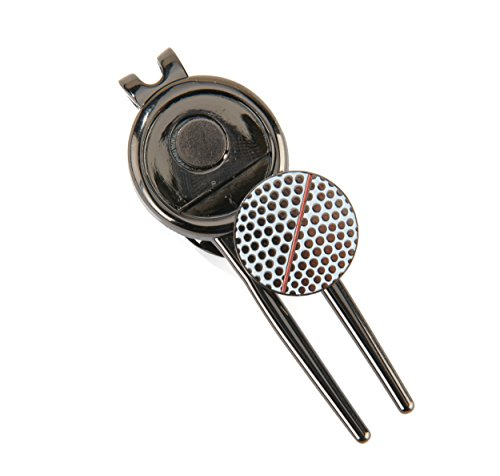 Divot Tool with Magnetic Alignment Golf Ball Marker