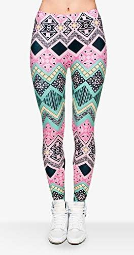 Women Aztec 3D Graphic Print Skinny Stretchy Pants Yoga Soft Leggings
