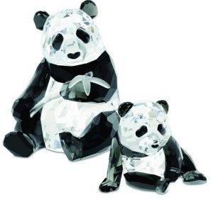 Swarovski Annual Edition Pandas Figurine 2008 -